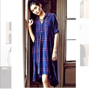 Anthro Homestead Plaid Shirt Dress Sz XS